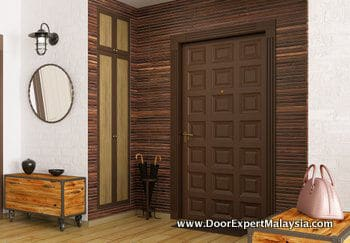 Modern Wood Front Door Malaysia | Stylish & Secure at